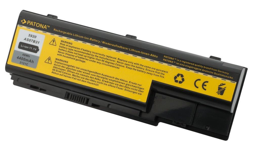 Baterie PATONA pro Acer 4400 mAh Baterie, 4400 mAh, pro notebooky Acer Aspire 5220, 5920, neoriginální PT2121