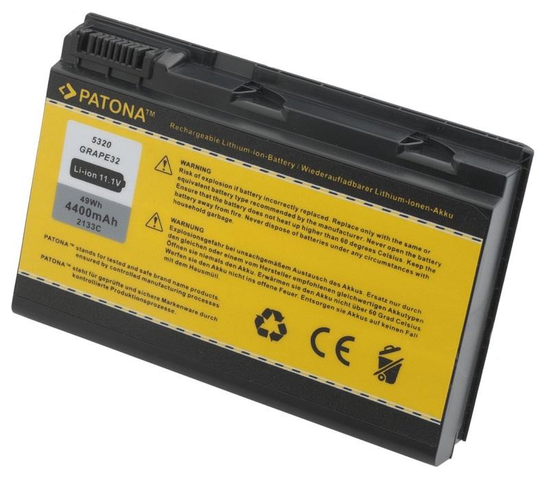 Baterie PATONA pro Acer 4400 mAh Baterie, 4400 mAh, pro notebooky Acer Extensa 5220, 5620, neoriginální PT2133