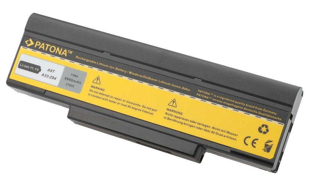 Baterie PATONA pro ASUS 6600 mAh Baterie, 6600 mAh, pro notebooky ASUS A9, F3, Z53, neoriginální PT2102