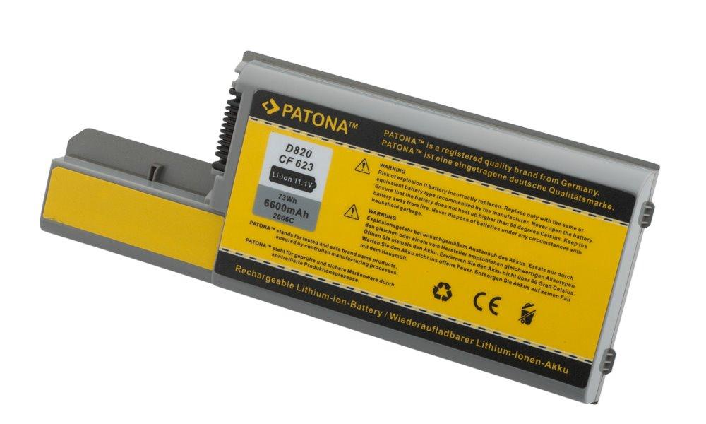 Baterie PATONA pro Dell 4400 mAh Baterie, 4400 mAh, pro notebooky DELL Latitude D820, D531, D830, Precision M65, M4300, neoriginální PT2066
