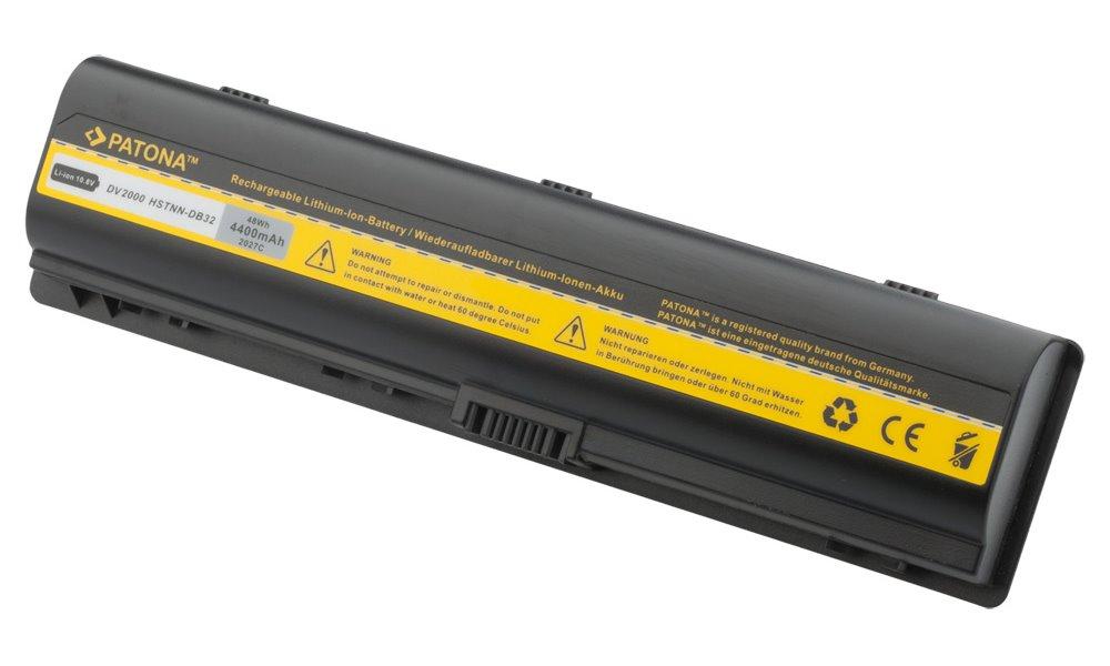 Baterie PATONA pro HP 4400 mAh Baterie, 4400 mAh, pro notebooky HP Pavilion DV2000, Compaq Presario, neoriginální PT2027