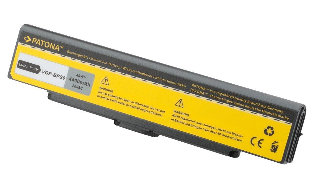 Baterie PATONA pro SONY VAIO 4400 mAh Baterie, 4400 mAh, pro notebooky SONY VAIO VGN, neoriginální PT2098