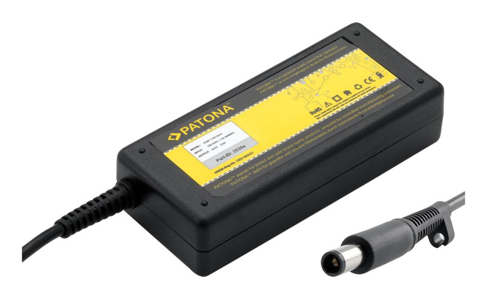 Napájecí adaptér PATONA pro HP 65W Napájecí adaptér, pro notebooky HP, 65W, 18.5V, 3.5A, Náhradní koncovka 7.4 x 5mm s pinem PT2538