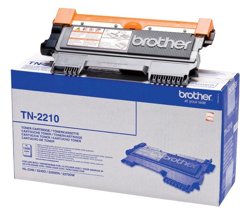 Toner Brother TN-2210 černý Toner, originální, pro Brother HL-2240, 2250, 2270, DCP-7060, 7065, 7070, MFC-7360, 7460, FAX 2845, 1200 stran, černý TN2210