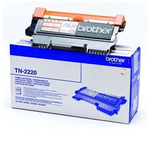 Toner Brother TN-2220 černý Toner, originální, pro Brother HL-2240, 2250, 2270, DCP-7060, 7065, 7070, MFC-7360, 7460, FAX 2845, 2600 stran, černý TN2220