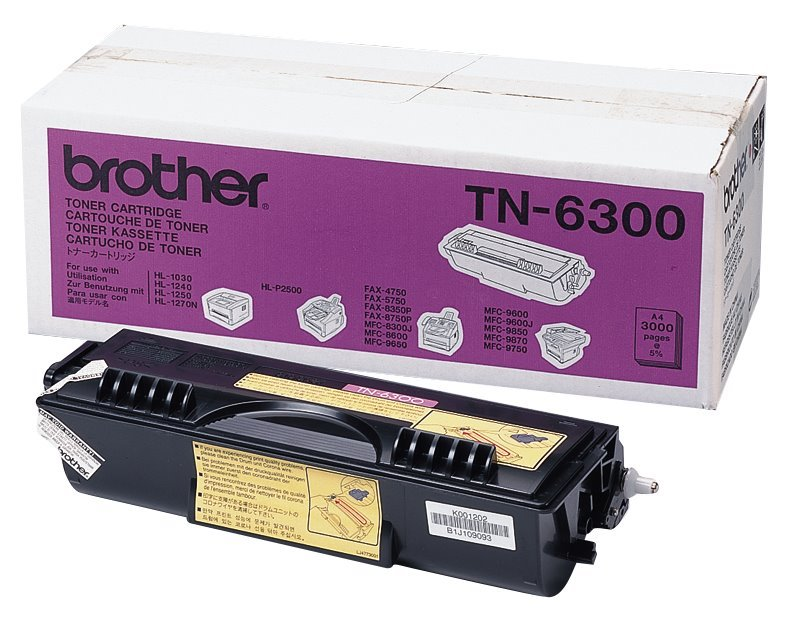 Toner Brother TN-6300 černý Toner, TN 6300, 3000 str., černý TN6300YJ1