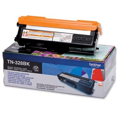 Toner Brother TN-328BK Toner TN328BK pro HL 4570CDW, MFC-9970CDN, 6 000 str., černý TN328BK