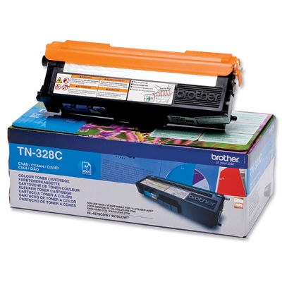 Toner Brother TN-328C Toner TN-328C pro HL 4570CDW, MFC-9970CD, 6 000 str., azurový TN328C