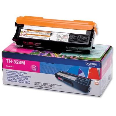 Toner Brother TN-328M Toner TN-328M pro HL 4570CDW, MFC-9970, 6 000 str, purpurový TN328M
