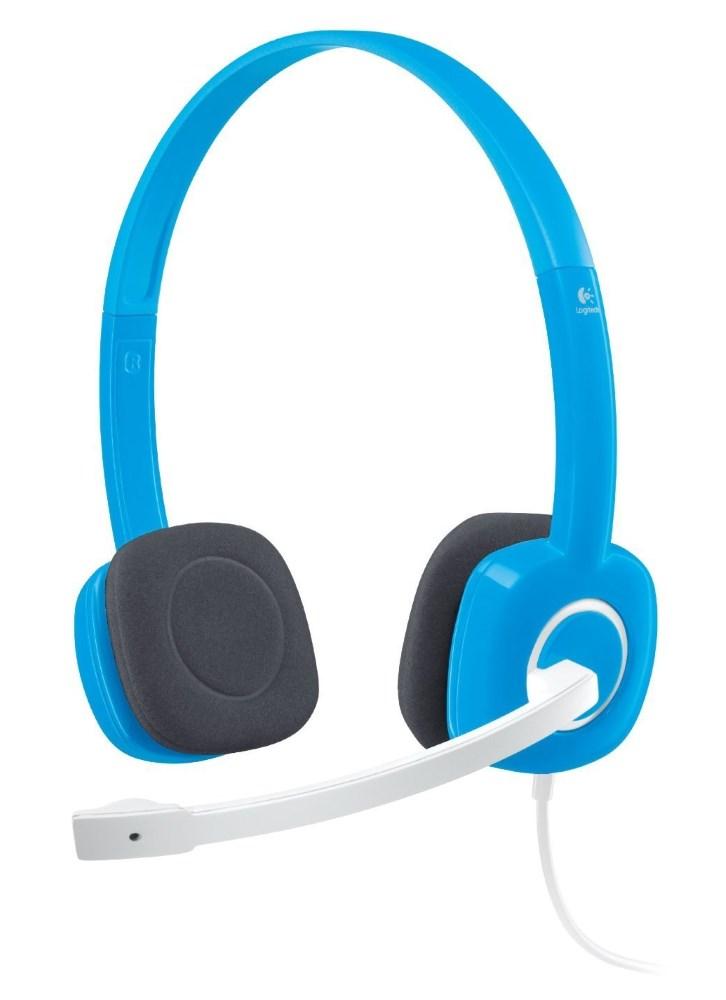 Headset LOGITECH H150 Headset, drátový, Sluchátka, + mikrofon, 3,5 mm jack, modrý 981-000368