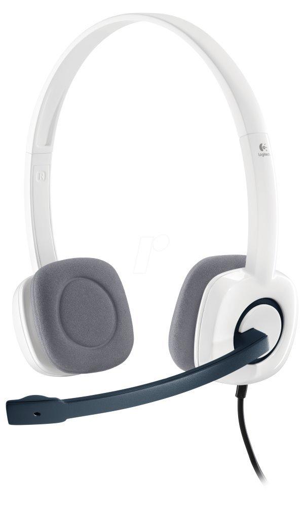 Headset LOGITECH H150 Headset, drátový, Sluchátka, + mikrofon, 3,5 mm jack, kokosová, bílý 981-000350