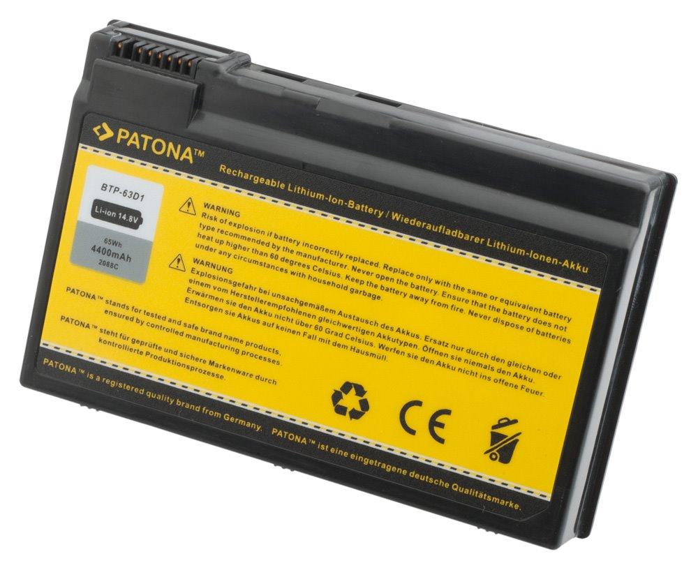 Baterie PATONA pro Acer 4400 mAh Baterie, 4400 mAh, pro notebooky Acer Aspire 3020,TravelMate 2410, neoriginální PT2088