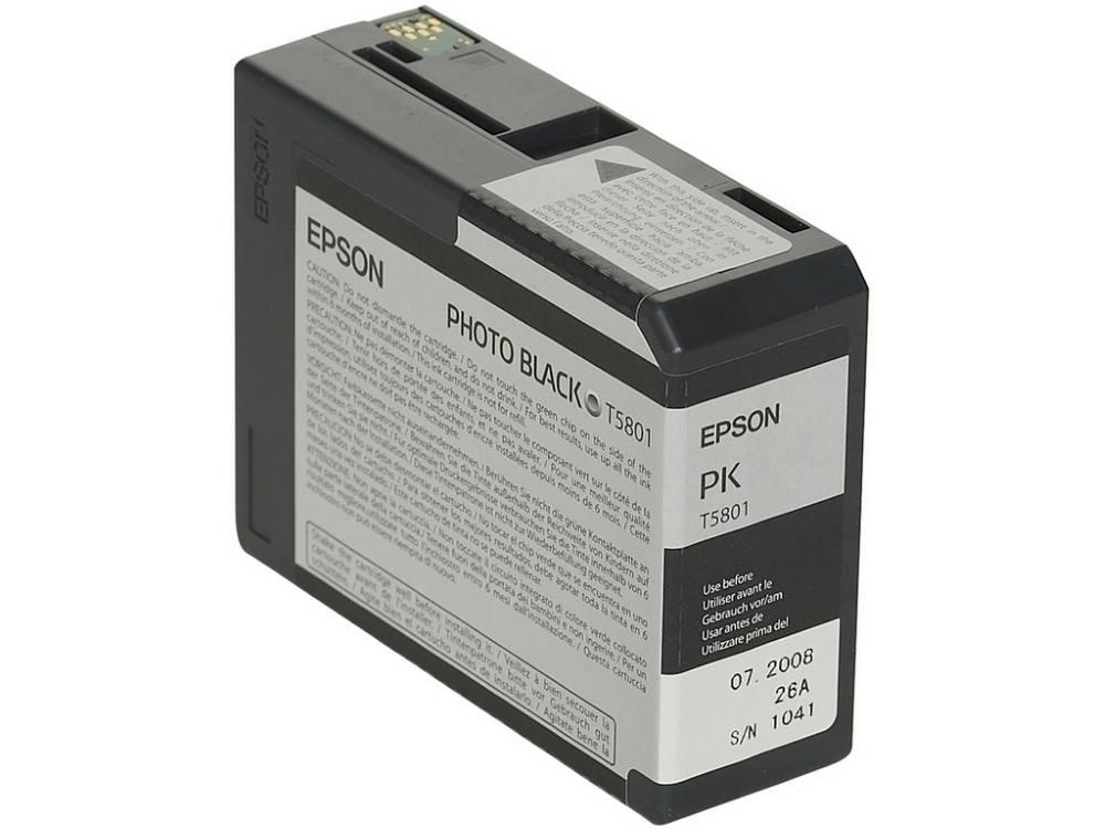 Inkoustová náplň Epson T5801 foto černá Inkoustová náplň, originální, pro Epson Stylus PRO 3800, 3880, foto černá C13T580100