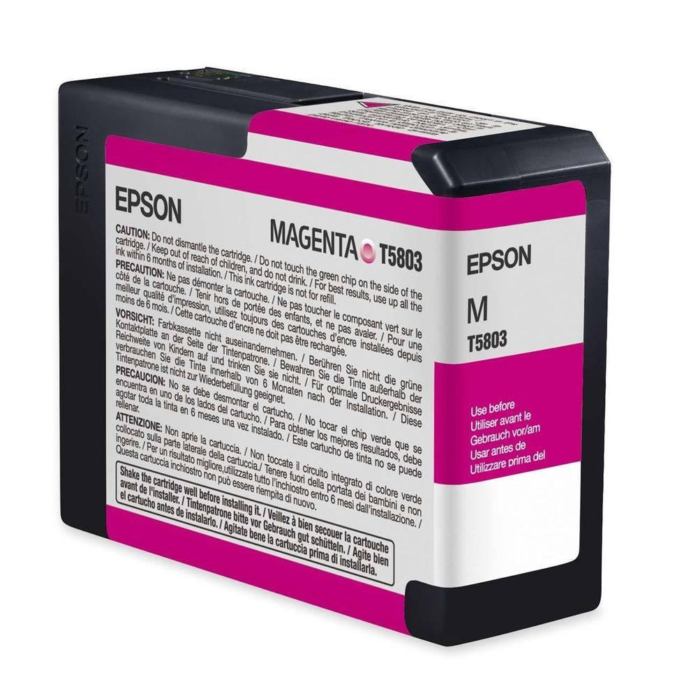 Inkoustová náplň Epson T5803 purpurová Inkoustová náplň, originální, pro Epson Stylus PRO 3800, 3880, purpurová C13T580300