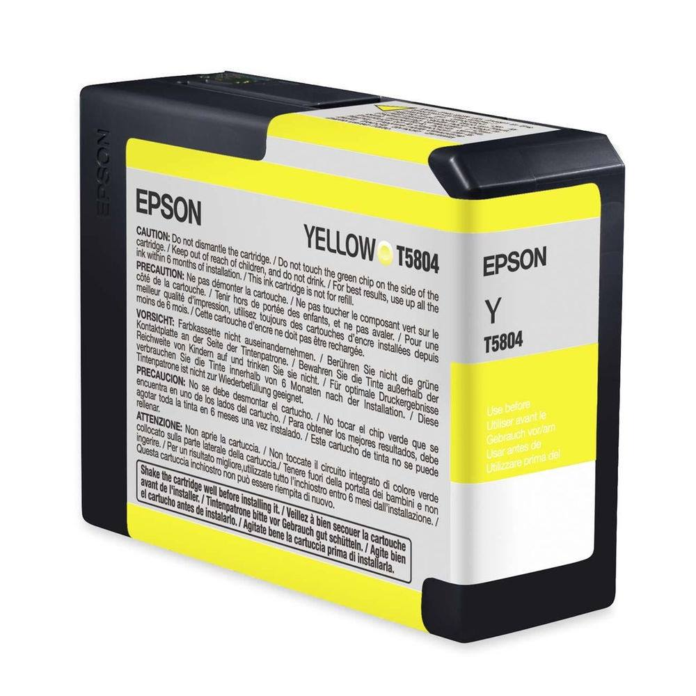 Inkoustová náplň Epson T5804 žlutá Inkoustová náplň, originální, pro Epson Stylus PRO 3800, 3880, žlutá C13T580400