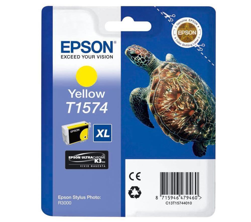Inkoustová náplň Epson T1574 žlutá Inkoustová náplň, originální, pro Epson Stylus Photo R3000, žlutá C13T15744010