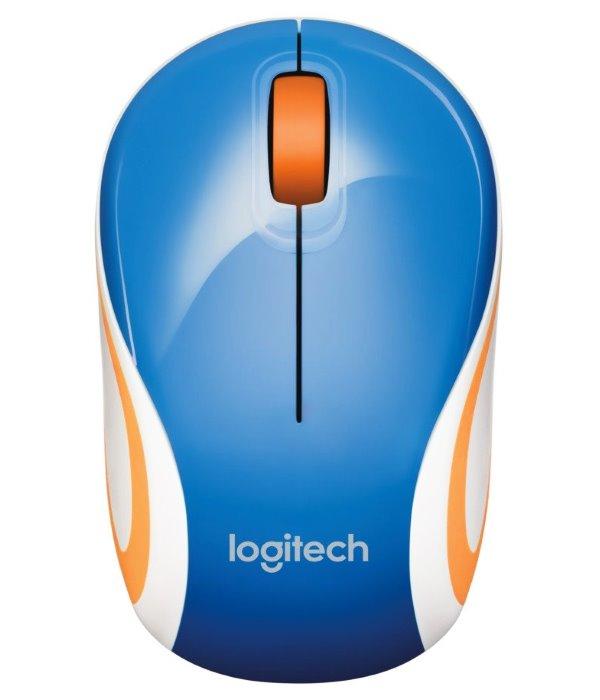 Myš LOGITECH M187 Myš, bezdrátová, optická, USB, modrá, podpora Unifying 910-002733