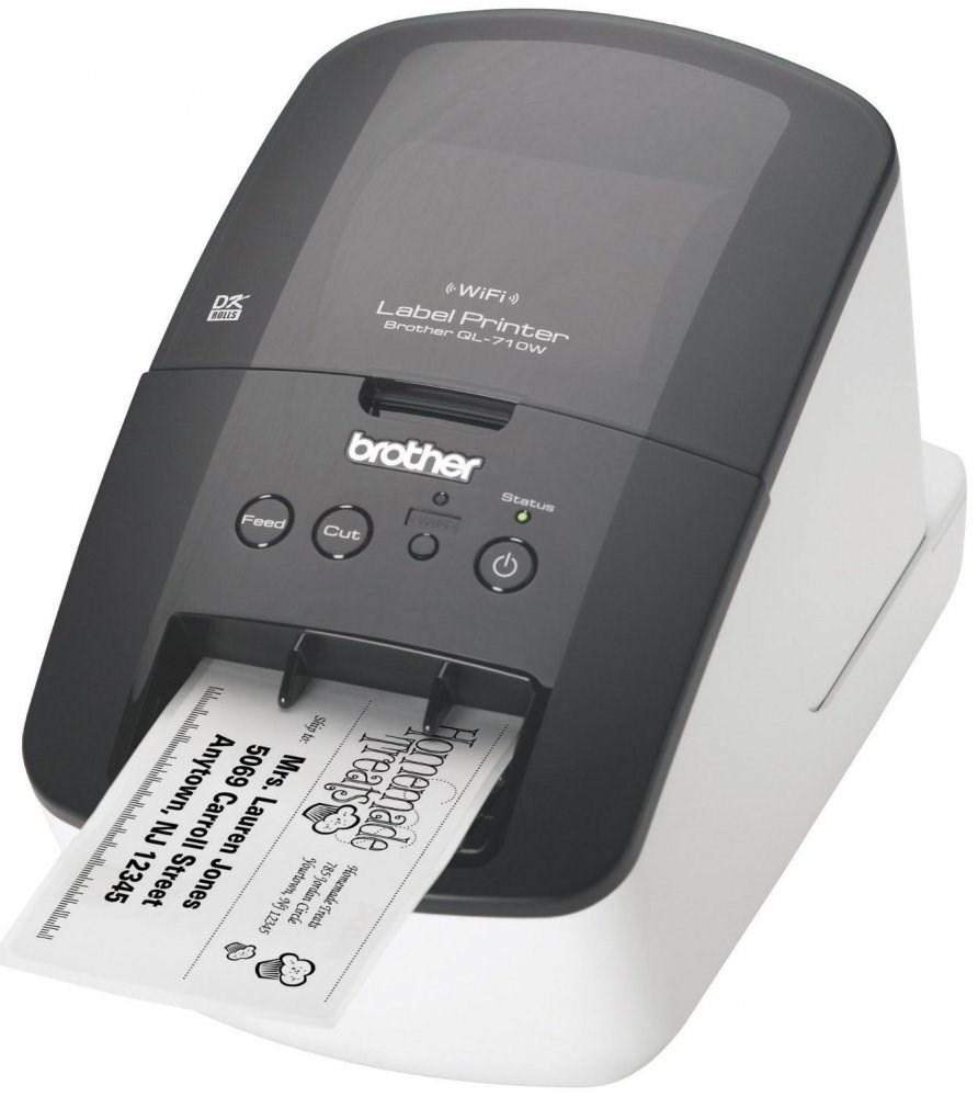 Tiskárna samolepících štítků BROTHER QL-710W Tiskárna samolepících štítků, 300 dpi, USB, WiFi QL710WYJ1