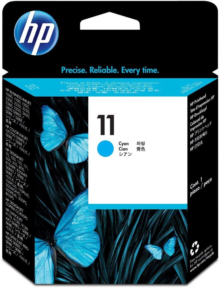 Cartridge inkoustová náplň HP 11 HP C4811A - tisk. hlava azurová, DSJ 500,800,BI 22xx C4811A