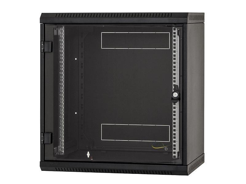 Nástěnný rozvaděč Triton RBA-12-AS4-BAX-A1 Nástěnný rozvaděč, 12U, 400 mm, celoskleněné dveře RBA-12-AS4-BAX-A1