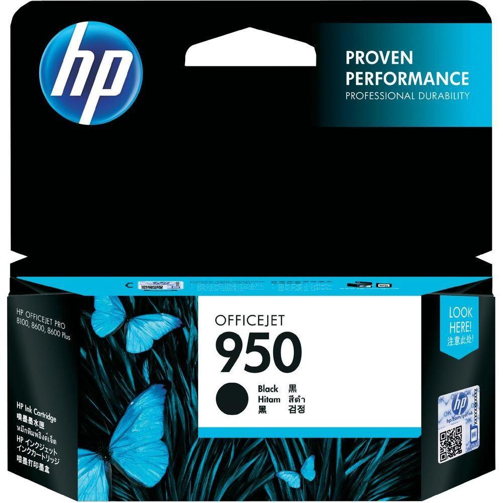 Inkoustová náplň HP 950 černá Inkoustová náplň, originální, pro HP Officejet Pro 251dw, 276dw, 8100, 8600, 8610, 8620, 24 ml, černá CN049AE