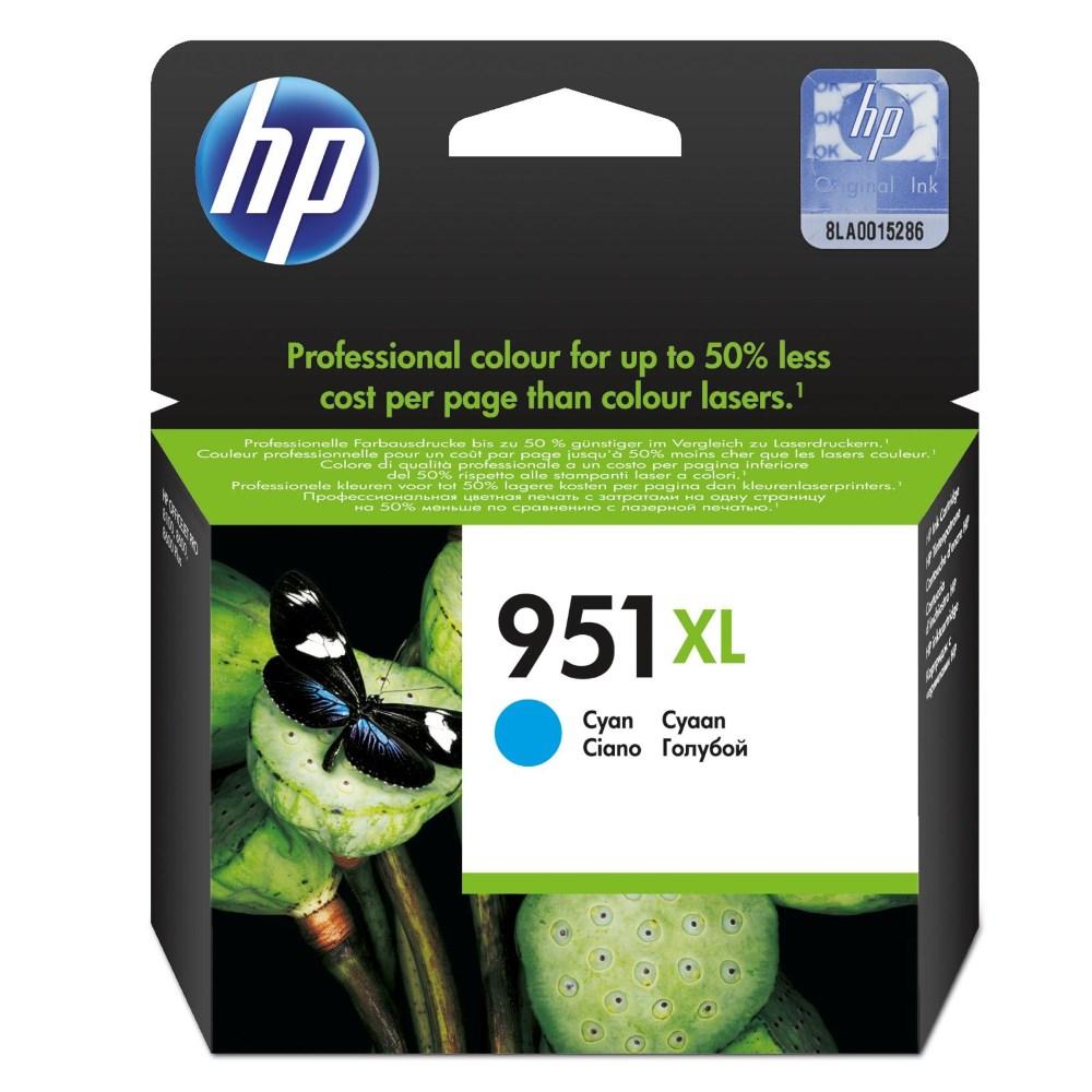 Inkoustová náplň HP 951XL CN046AE modrá Inkoustová náplň, originální, pro HP Officejet Pro 251dw, 276dw, 8100, 8600, 8610, 8620, XL, modrá CN046AE