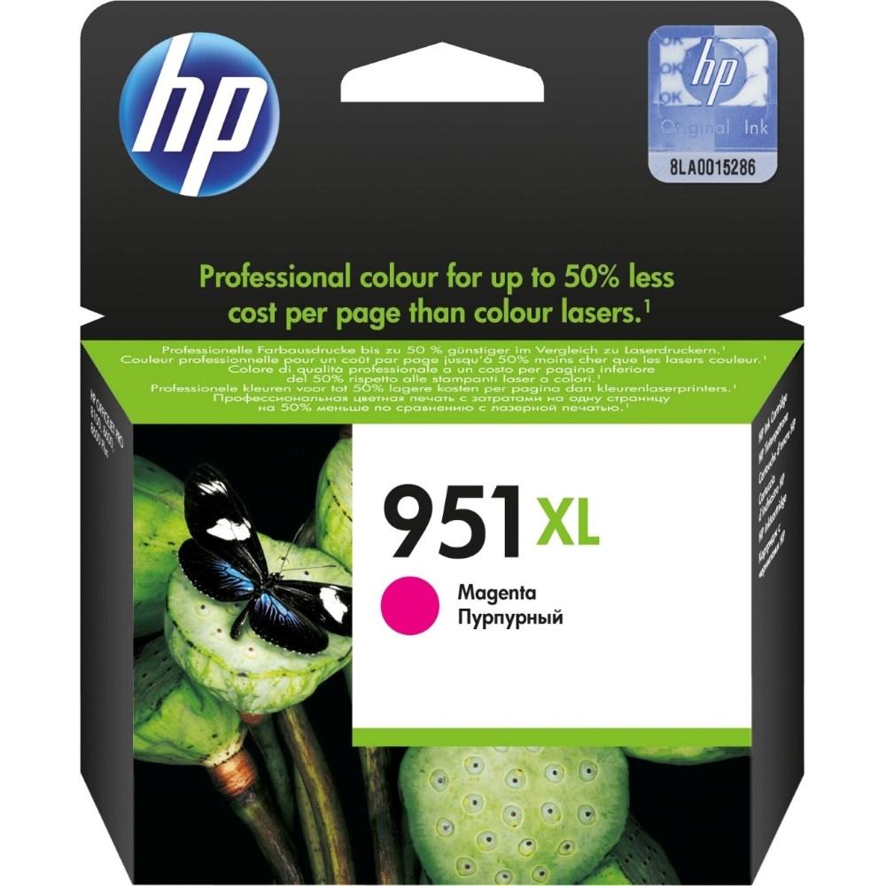 Inkoustová náplň HP 951XL CN047AE purpurová Inkoustová náplň, originální, pro HP Officejet Pro 251dw, 276dw, 8100, 8600, 8610, 8620, XL, purpurová CN047AE