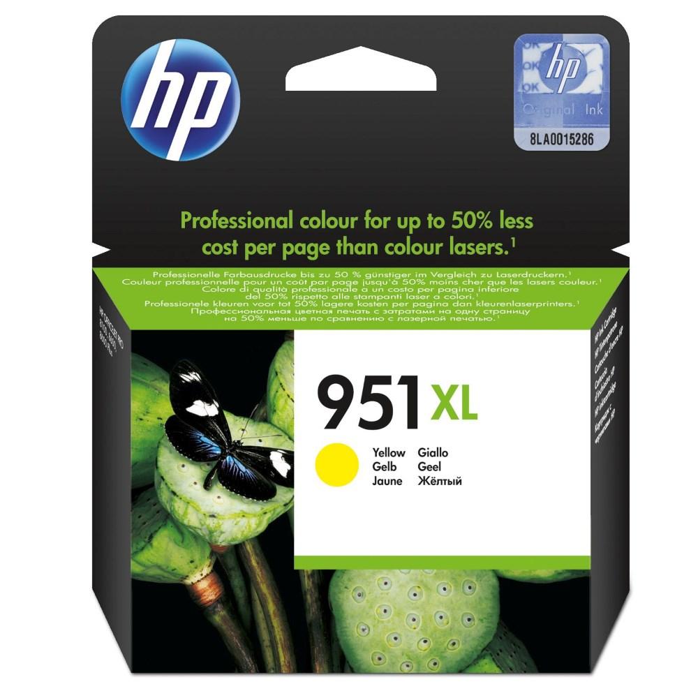 Inkoustová náplň HP 951XL CN048AE žlutá Inkoustová náplň, originální, pro HP Officejet Pro 251dw, 276dw, 8100, 8600, 8610, 8620, XL, žlutá CN048AE