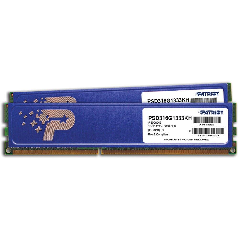 Operační paměť RAM Patriot 16 GB 1333 MHz Operační paměť, DDR3 16GB 2x8GB PC3-10600 1333 MHz CL9 PSD316G1333KH