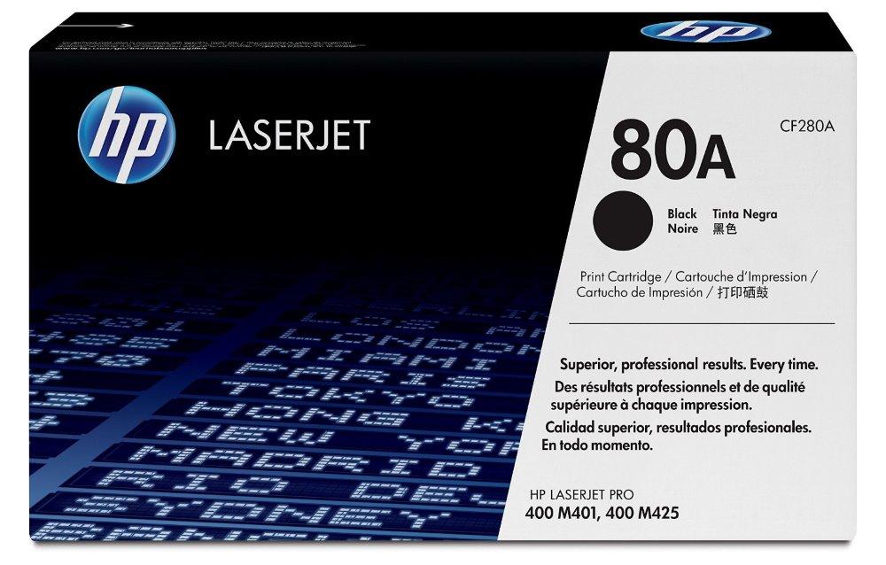Toner HP 80A (CF280A) černý Toner, originální, pro HP LaserJet Pro M425dn, M425dw, M401dne, M401a, M401d, M401dn, M401dw, 2700 stran, černý