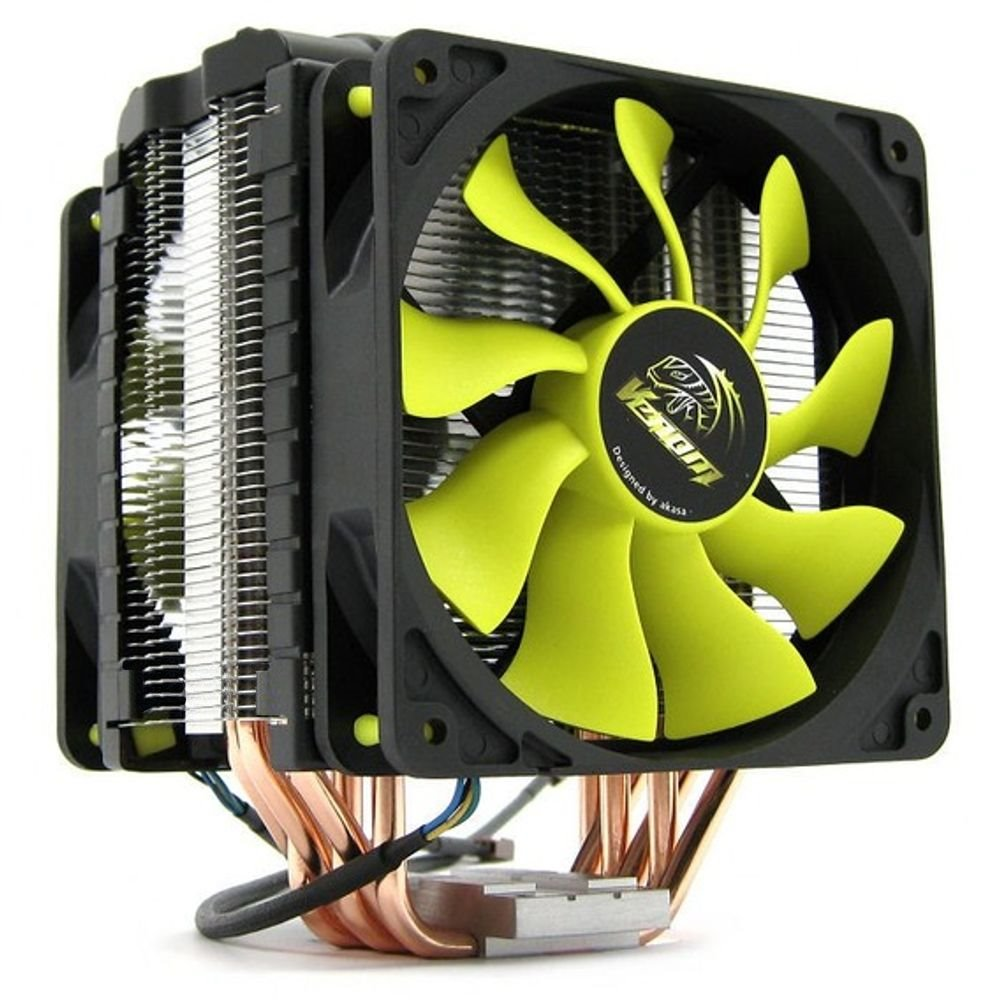Chladič AKASA Venom Voodoo AK-CC4008HP01 Chladič, pro Intel i AMD 775,1156,1155,1366,2011,AM2,AM2+,AM3 AK-CC4008HP01V2