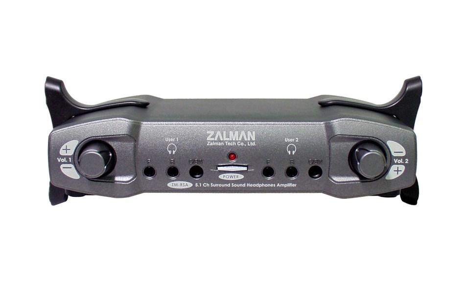 Zesilovač ZALMAN ZM-RSA Zesilovač, sluchátkový, duální, černý ZM-RSA