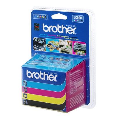 Inkoustová náplň Brother LC-900 sada Inkoustové náplňě LC-900, černá, purpurová, žlutá, azurová, multipack LC900VALBP