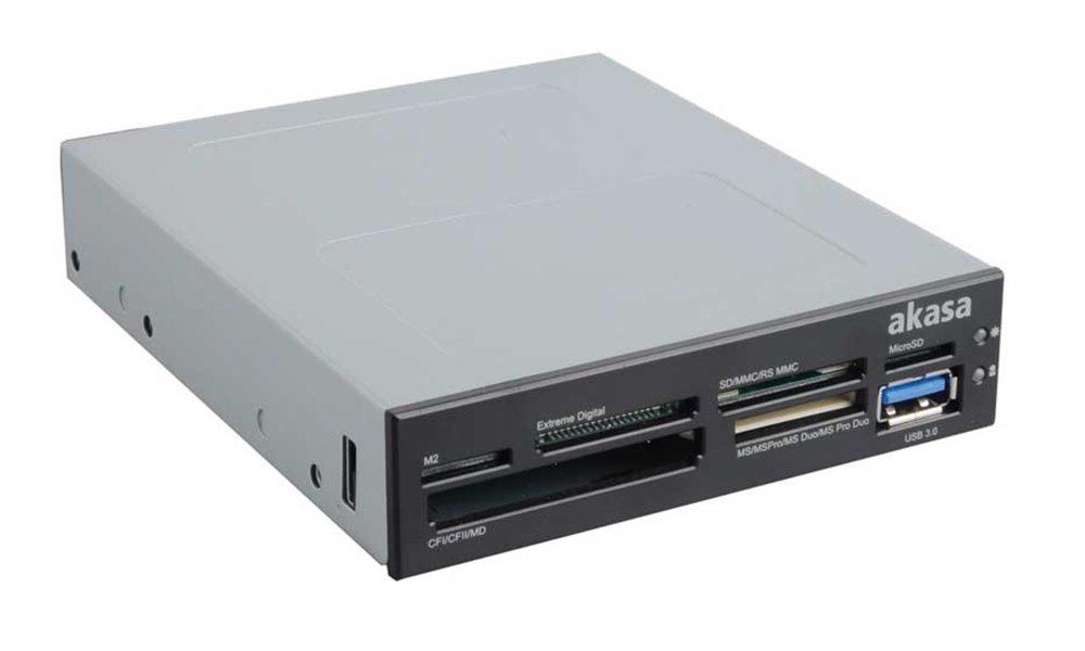 Čtečka paměťových karet AKASA AK-ICR-07U3 Čtečka paměťových karet, s podporou SDXC, 1xUSB3.0 port, interní, černá, bílá AK-ICR-07U3