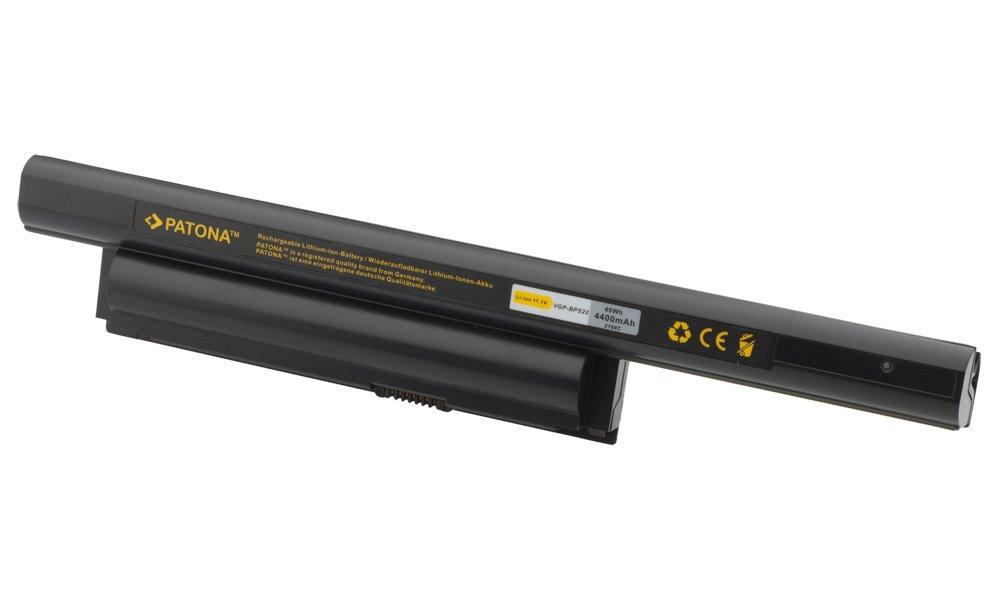 Baterie PATONA kompatibilní s Sony Vaio VGP-BPS22 Baterie, pro notebook, 4400mAh, Li-Ion, 11,1V PT2198