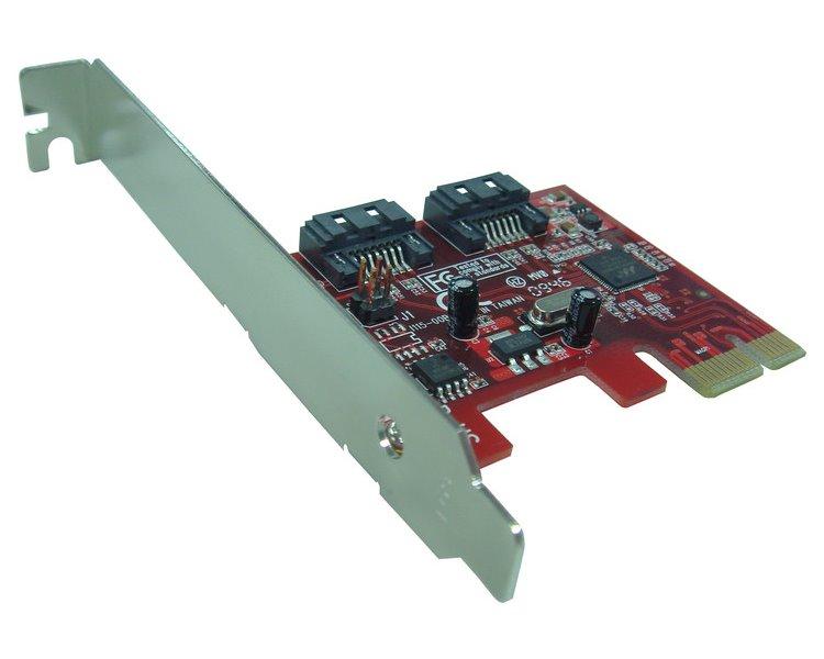 Řadič Kouwell PE-115H Řadič, PCI-E, 2x SATAIII 6Gbps, Včetně low profille PE-115H
