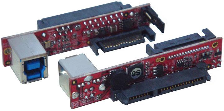 """Řadič Kouwell UB-128-3 Řadič, SATA III Drive na USB3.0, Mini vertikální most pro 2.5"""" a 3.5"""" jednotky UB-128-3"""