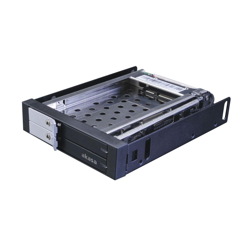 Box na disk AKASA AK-IEN-03 Box na disk, externí, pro 2x2,5 HDD, SSD disky AK-IEN-03