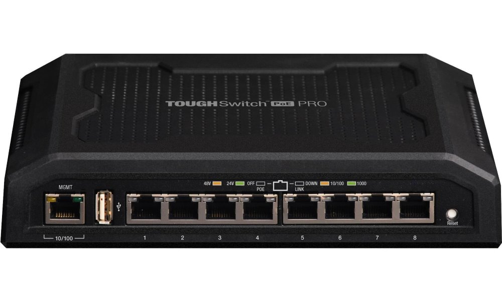 Switch UBNT ToughSwitch TS-8-POE Switch, 8 x Gigabit POE port, 24/48 V TS-8-PRO