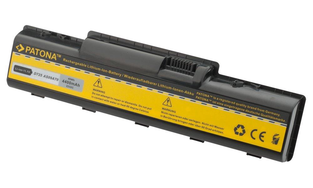 Baterie PATONA pro Acer 4400 mAh Baterie, 4400 mAh, pro notebooky Acer Aspire 4200, 5241, 7700, Packard Bell, Gateway, neoriginální PT2232