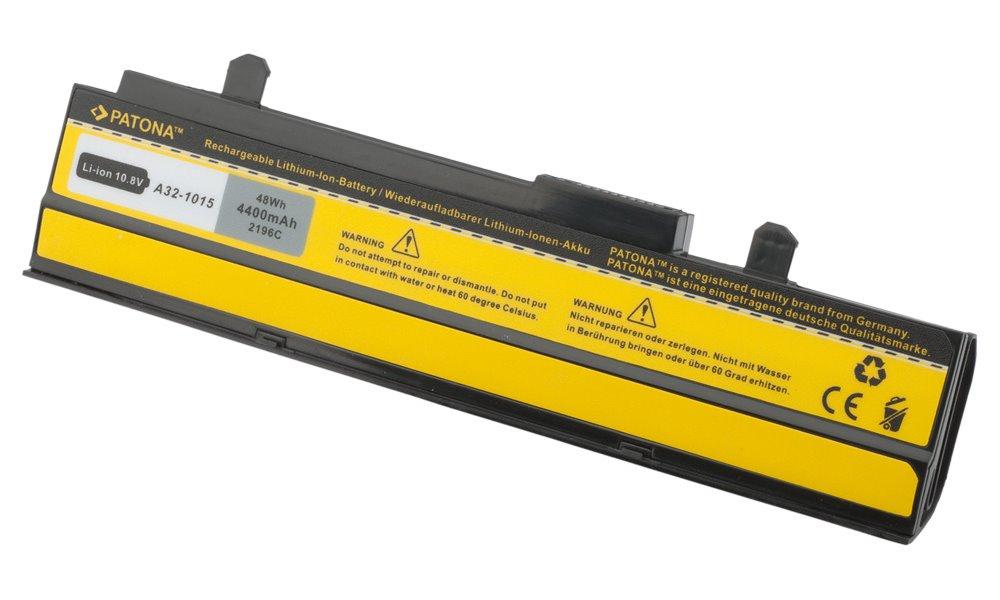 Baterie PATONA pro ASUS 4400 mAh Baterie, 4400 mAh, pro notebooky ASUS EEE PC 1015, 1016, 1215, VX6, neoriginální PT2196