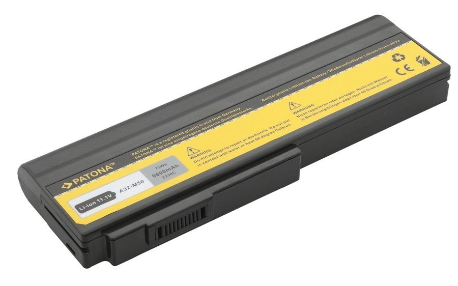 Baterie PATONA pro ASUS 6600 mAh Baterie, pro notebook, 6600mAh, Li-Ion, 11,1V, 9-článková, pro ASUS G50, G51, G60, L50, M50, M51, M60, M70, N43, N53, N61, VX5, X57, X64, Pro62, Pro64