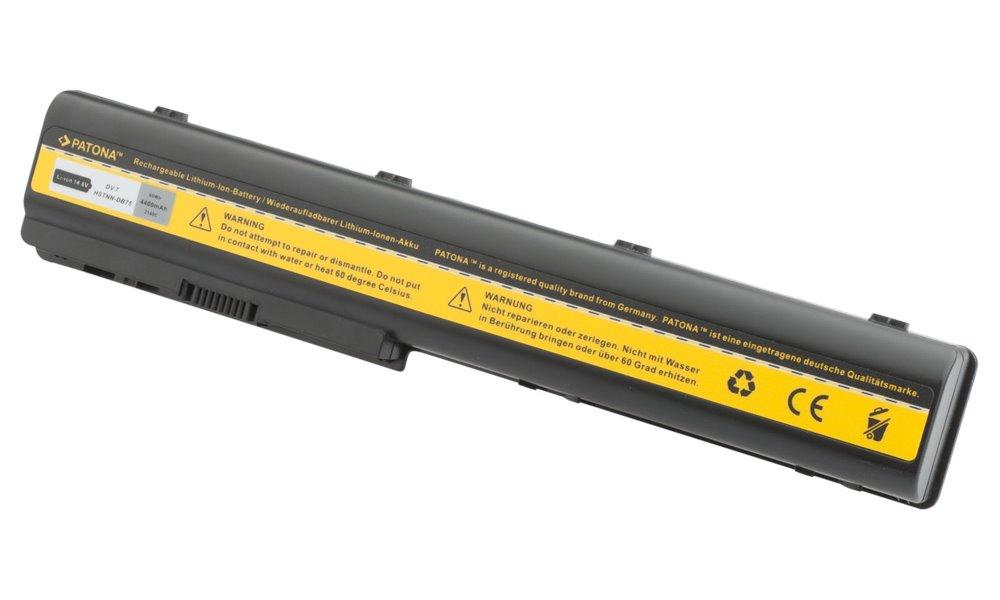 Baterie PATONA pro HP 4400 mAh Baterie, pro notebook, 4400mAh, Li-Ion, 14,4V, 8-článková, pro HP PavilIon DV7, DV8, HDX18