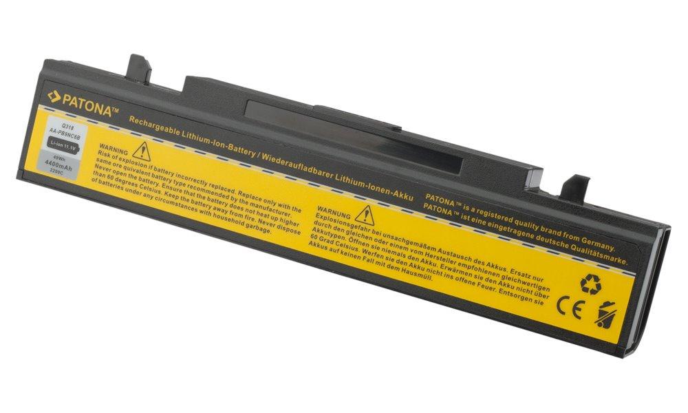 Baterie PATONA pro SAMSUNG 4400 mAh Baterie, 4400 mAh, pro notebooky SAMSUNG NP, P, Q, R, X, neoriginální PT2200