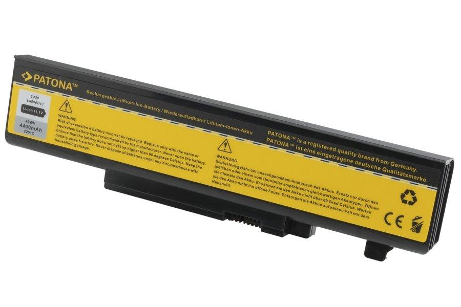 Baterie PATONA pro Lenovo 4400 mAh Baterie, 4400 mAh, pro notebooky Lenovo IdeaPad Y450, Y550, neoriginální PT2251