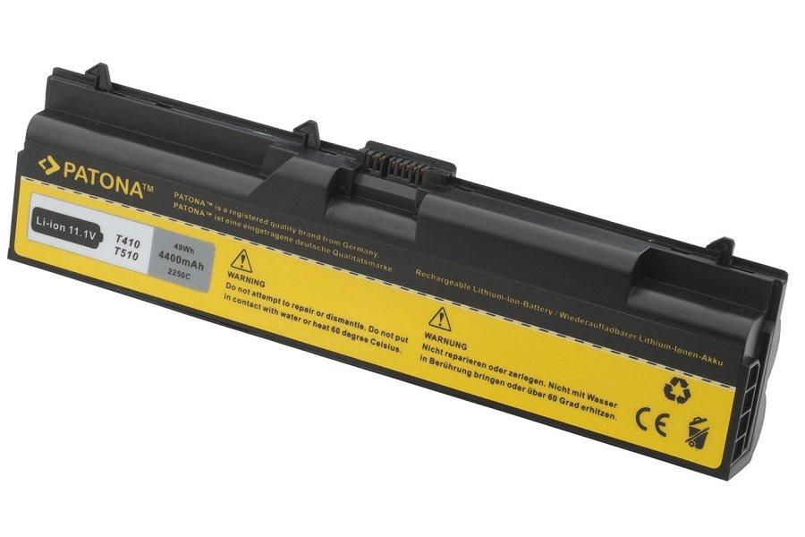 Baterie PATONA pro Lenovo 4400 mAh Baterie, 4400 mAh, pro notebooky Lenovo ThinkPad řada E, Edge, L, SL, T, W, neoriginální PT2250