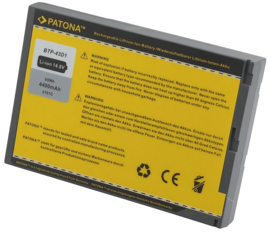 Baterie PATONA pro HP 4400 mAh Baterie, 4400 mAh, pro notebooky Acer TravelMate, neoriginální PT2101