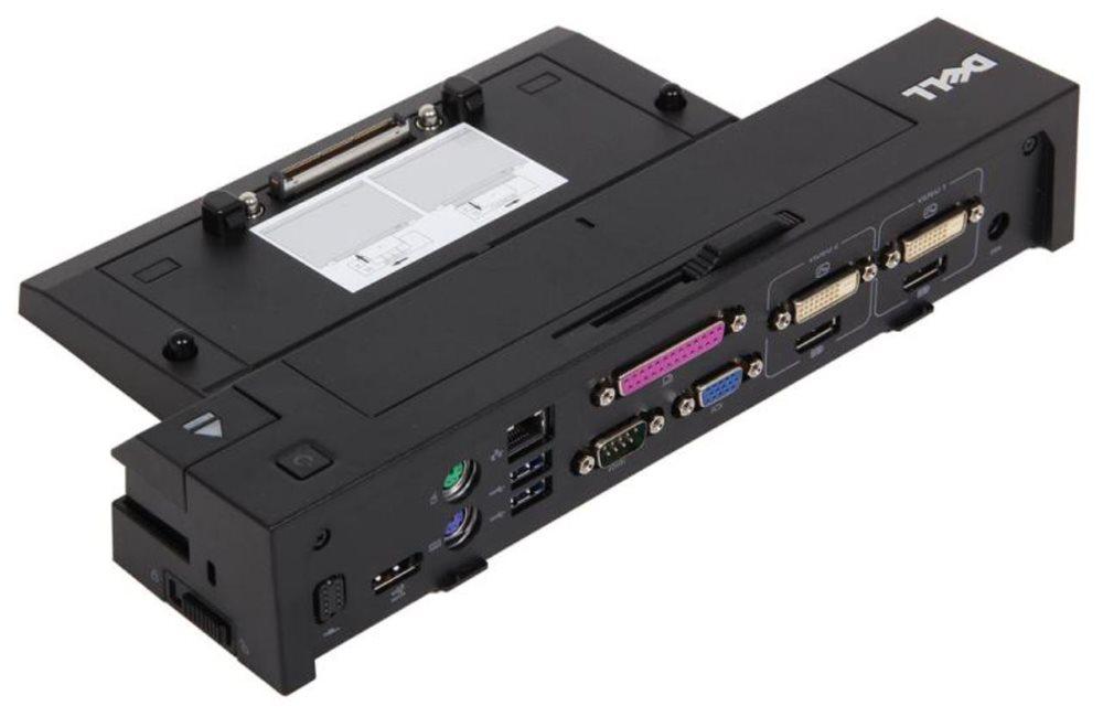 Dokovací stanice DELL EURO2 E-port Dokovací stanice, port replikátor, rozšířená, 130W AC adap., USB 3.0, s nap. kabelem, pro Latitude 452-11415
