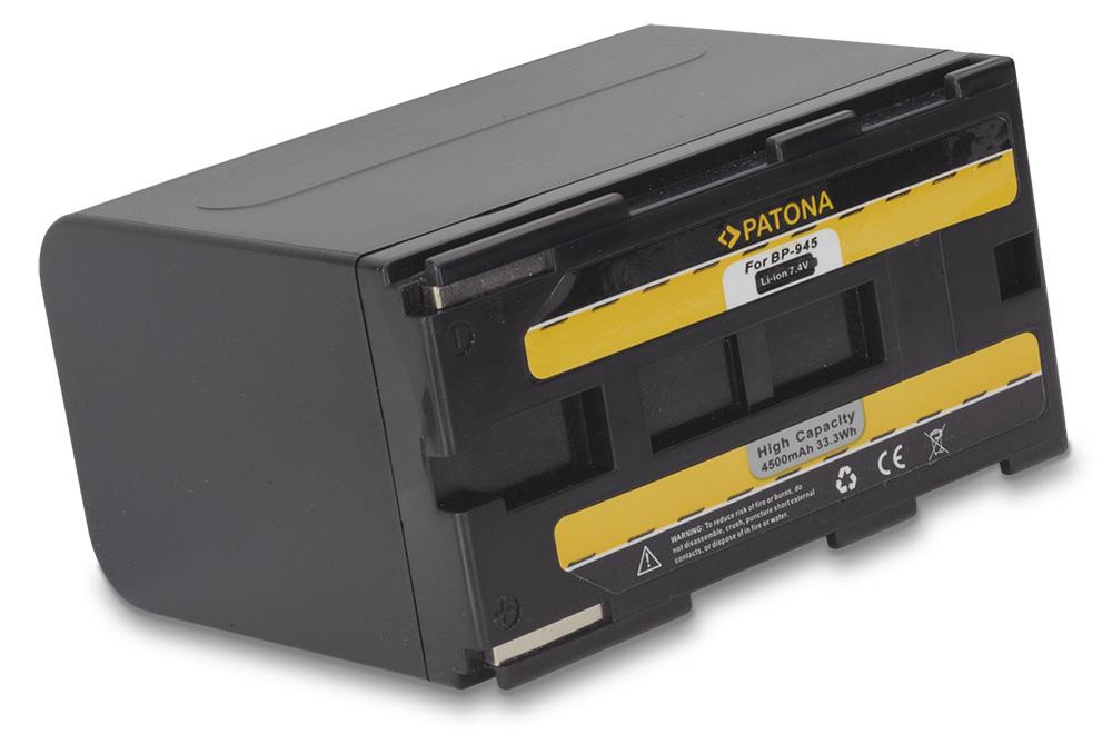 Baterie PATONA kompatibilní s Canon BP-941 Baterie, pro videokameru, 4500mAh, Li-Ion PT1010