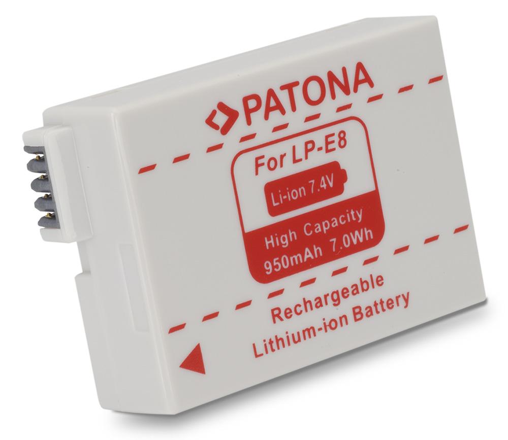 Baterie PATONA kompatibilní s Canon LP-E8 Baterie, pro fotoaparát, 950mAh, Li-Ion PT1077